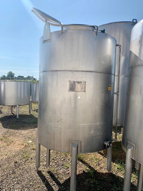 Tanque de inox industrial usado